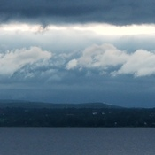 A trail of storm clouds greets the day...