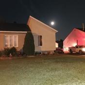 belle soirée de pleine lune.