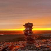 Sunset in Igloolik, NU