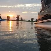 soirée sur l'eau