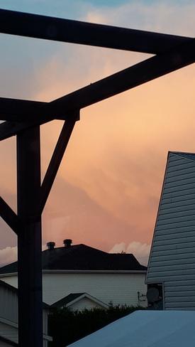 beau coucher de soleil Saint-Odilon-de-Cranbourne, QC