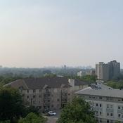 Smoke haze over Ottawa
