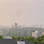 Smoke haze over Ottawa 2