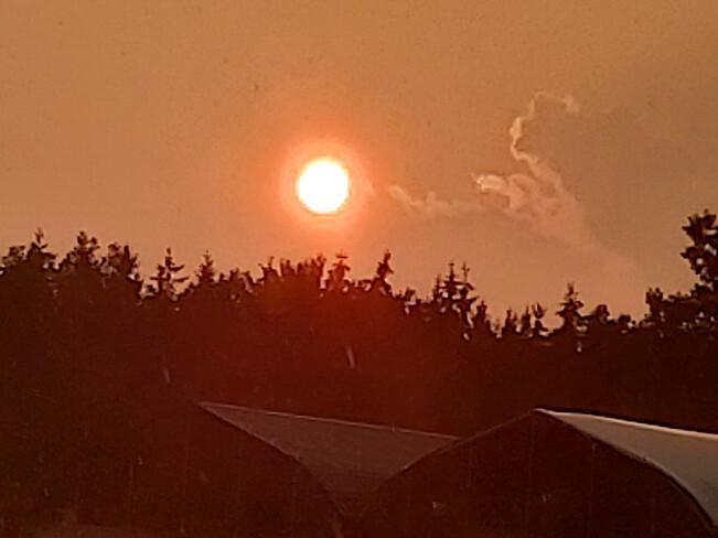 Sunset thru the storm Osgoode, ON