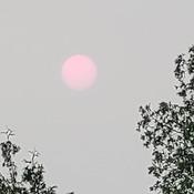 Smokey setting sun