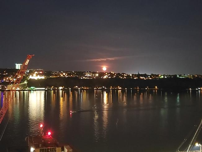 Pleine lune Vieux-Québec, QC