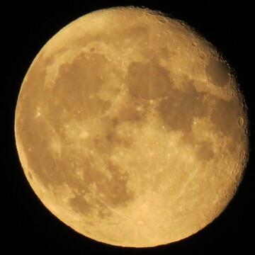 beautiful full moon last night