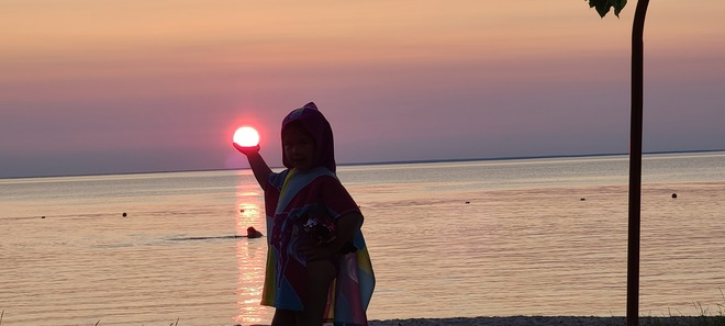 just a gal and her sun Clearwater Lake Provincial Park, MB