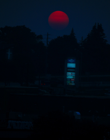 Red Sun this Summer. Scarborough, Toronto, ON