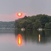 Couché de soleil au trois-lac
