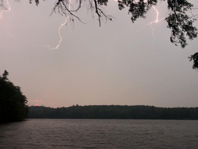 Stormy Sunset on Lake Opeongo Opeongo Lake, Unorganized South Nipissing District, ON