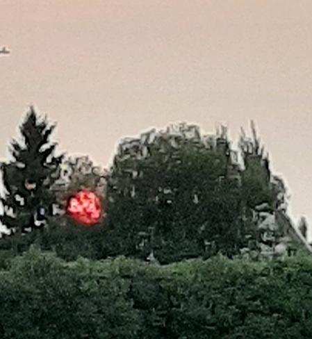 sunset more smoke Red Deer, AB