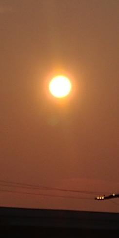 smokey sun evening Halifax, NS