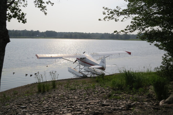 Landing on the lake. New Germany, NS