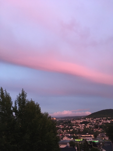 The changing colours of sunset. Taken by Bun Russell Corner Brook, Newfoundland and Labrador, CA