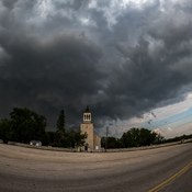 Intense storm over St. Andrews Church