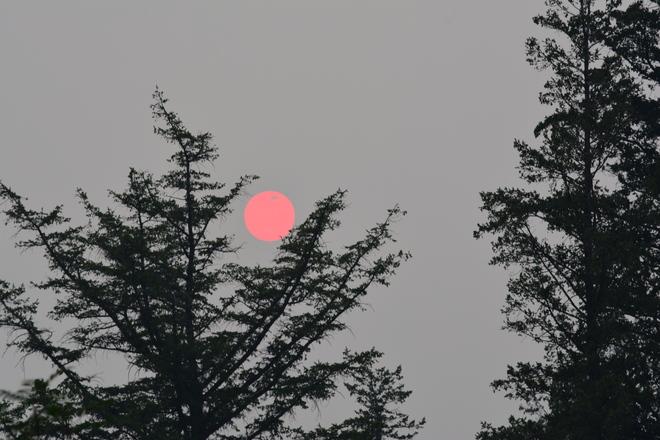 Smoky sunset Edmonton, AB