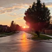 Wet roads = Lovely sunset