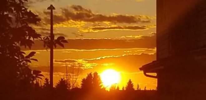 sun set Red Deer, AB