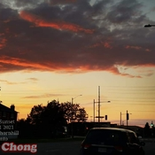 August 1 2021 8:38pm August sunset amid rain showers in Thornhill Toronto