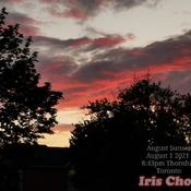 August 1 2021 8:43pm August sunset amid rain showers in Thornhill
