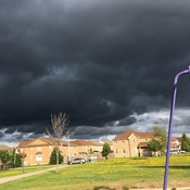 The dark clouds hovering over.