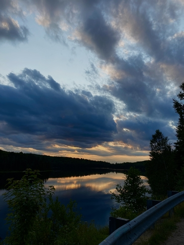 Brewers Lake Sunset Algonquin Highlands, Ontario, CA