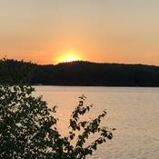Magnifique coucher de soleil sur la rivière Saint-Maurice.