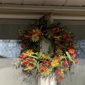 Dove atop my Wreath