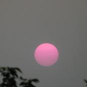 Étrange coucher de soleil