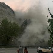 Landslide in Summerland BC