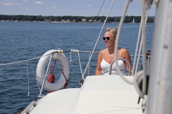 Sailing out of BOHM Bronte Harbour, Oakville, ON