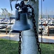 Ship's bell at the marina..