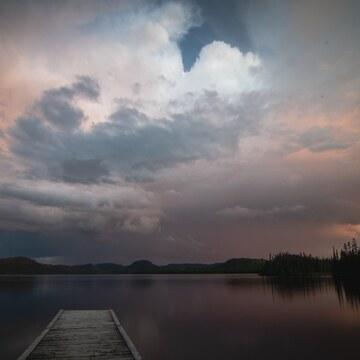 Orage sur le lac Portneuf
