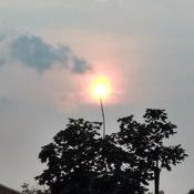 Le soleil en feux