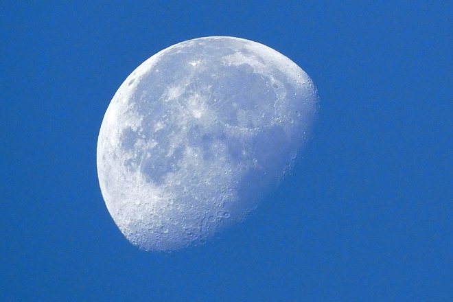 Morning Moon Shows Its Craters 35 Melville St, Dundas, ON L9H 1Z7, Canada
