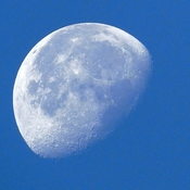 Morning Moon Shows Its Craters