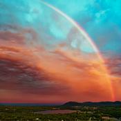 Arc-en ciel matinal