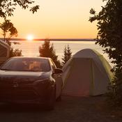 Lever du soleil en camping