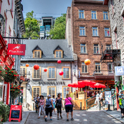 In the Old Quebec city