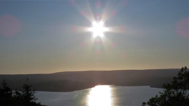 Sunset on St. Ann;s Bay, CB St Anns Bay, NS