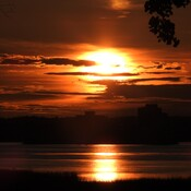 Coucher de Soleil du 7 Sept 2021, sur Trois-Rivières, PQ