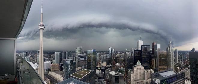 Shot taken from Toronto high rise. Toronto, ON
