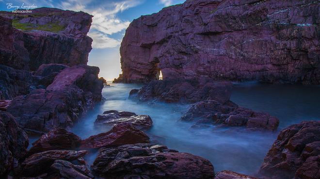 Long Exposure of Tickle Sea Arch Area Tickle Cove, NL