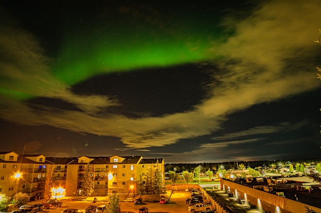 Clouds and northern lights Fort McMurray, Alberta, CA