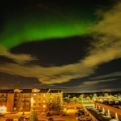 Clouds and northern lights