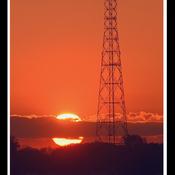 Trois-Rivières, coucher de soleil.