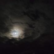 pleine lune et jupitar