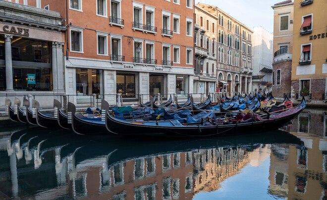 Gondola Parking Lot San Marco, Venice, Metropolitan City of Venice, Italy