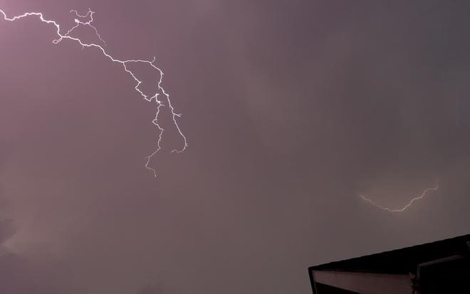 Lightening storm Duntroon, ON